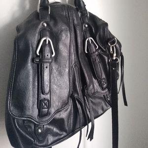 Kooba Black Zipper and Buckle Handbag Purse